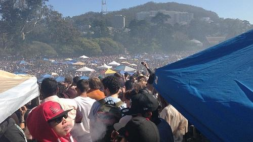 420 celebration in Golden Gate Park, 2013. Image: The560k via Wikimedia Commons