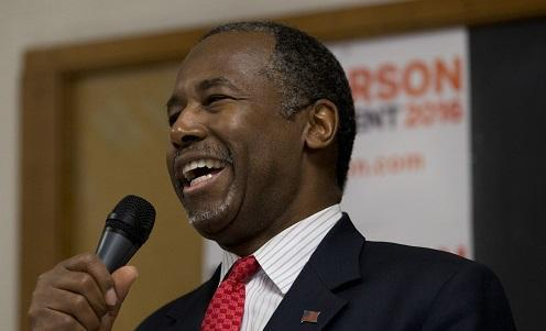 Republican presidential candidate Dr. Ben Carson speaks at a town hall on Wednesday in Panora, Iowa.  Image: Associated Press