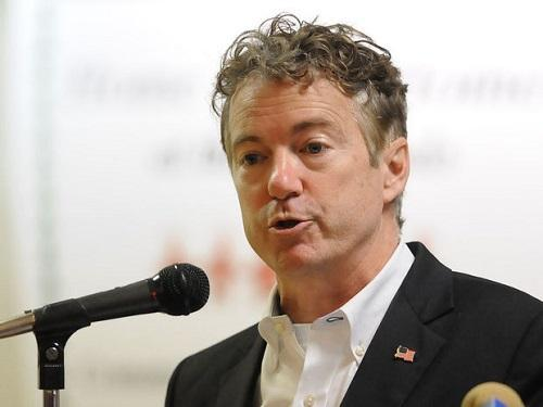 Sen. Rand Paul speaks at a town hall meeting in Ashland, Kentucky in October. Image: Kevin Goldy, The Daily Independent