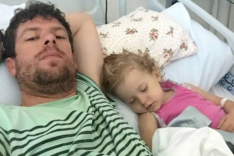 Image of Adam Koessler, whose daughter, Rumer Rose, is suffering from late-stage cancer
