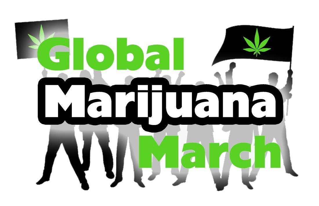 Image of Global Marijuana March Poster/logo May 2, 2015