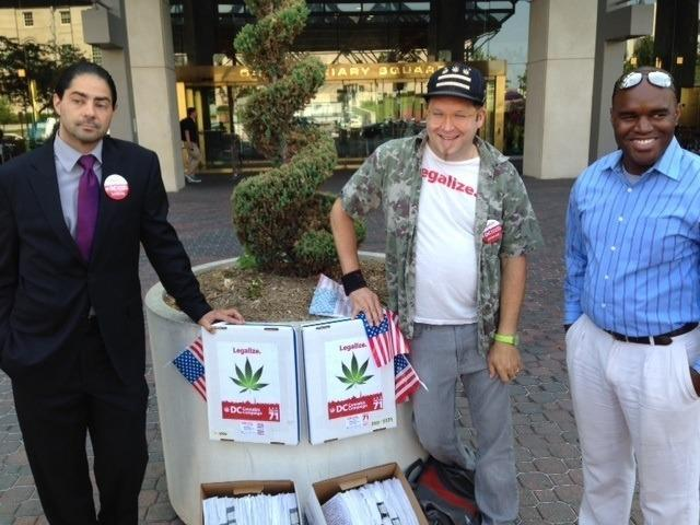 Imge of Washington DC marijuana activists