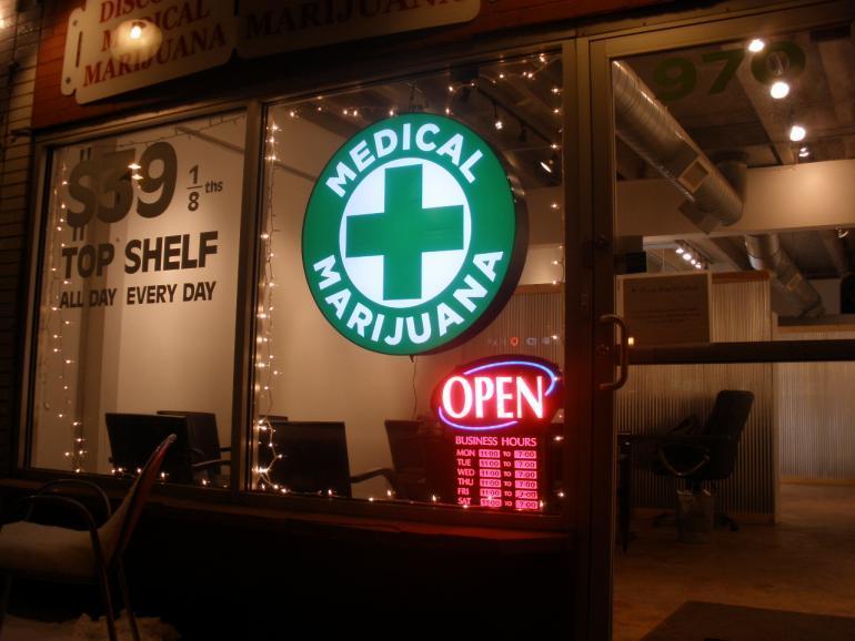 Image of a legal medical marijuana dispensary
