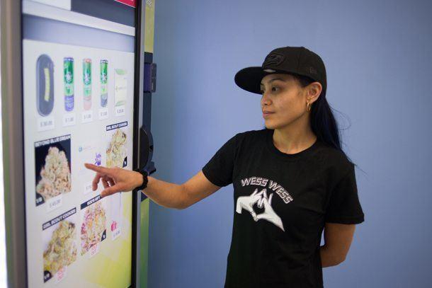 Image of marijuana vending machine
