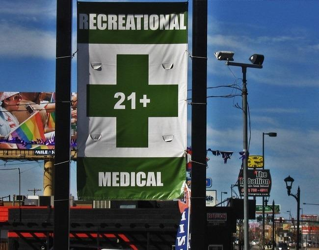 Sign outside a Denver dispensary. Photo: WeedWorthy.com
